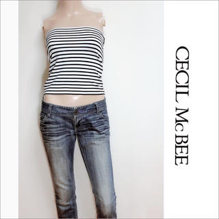CECIL McBEE - CECIL McBEE ボーダー ベアトップス カットソー♡ワンウェイ イング