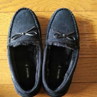シマムラ(しまむら)の《美品》ファーローファ(ローファー/革靴)
