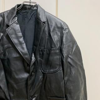 ヨウジヤマモト(Yohji Yamamoto)のビンテージ  コーティングレザージャケット(レザージャケット)