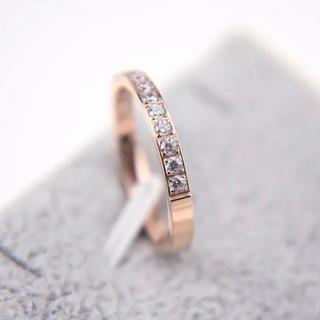 半キラ ステンレスリング ステンレス指輪 ピンキーリング(リング(指輪))