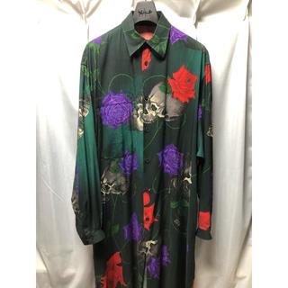 ヨウジヤマモト(Yohji Yamamoto)のyohjiyamamoto スカルローズ  ロングシャツブラウス(シャツ)