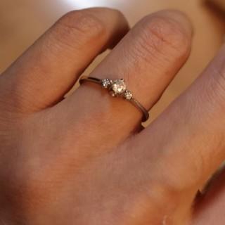 4℃ - PT900 ダイヤ付き リング 指輪 プラチナ