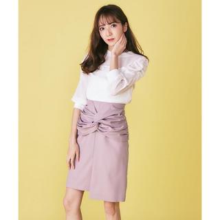 ミーア(MIIA)のMIIA ねじりデザインタイトスカート(ひざ丈スカート)