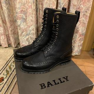 バリー(Bally)の美品 Bally バリー レースアップブーツ シボ革 厚底(ブーツ)