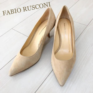FABIO RUSCONI - 美品!定価29700円 ファビオルスコーニ 24.0 本革 イタリア製 パンプス