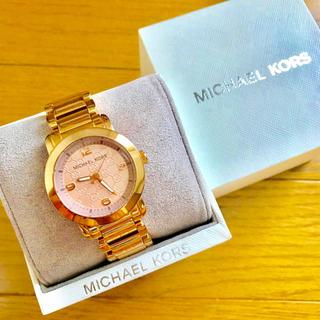 Michael Kors - 【美品!!】LADIES マイケルコース 腕時計 MK総柄 ピンクゴールド🎀
