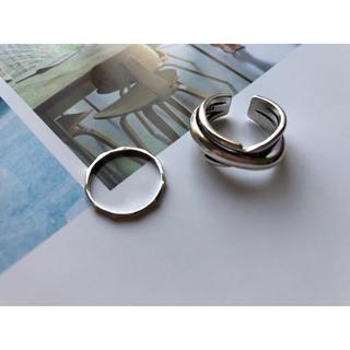 シンプルリング 2セット(リング(指輪))