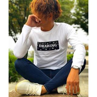 シュプリーム(Supreme)のDrawing スター ボックスロゴ Tシャツ ロンT Lサイズ supreme(Tシャツ/カットソー(七分/長袖))