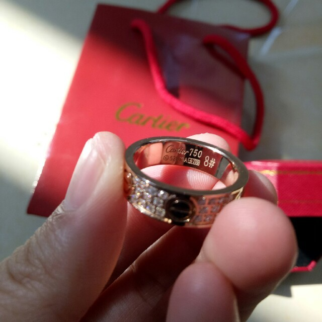 Cartier(カルティエ)の人気 売り上げ Cartierカルティエ リング キラキラ 7号 刻印ロゴ レディースのアクセサリー(リング(指輪))の商品写真