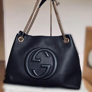 Gucci - GUCCI チェーン ショルダーバッグ ソーホー 新品 黒