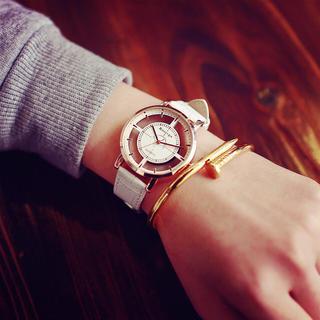 [新品]スケルトンウォッチ⁑ホワイト(腕時計)