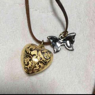 ハートと蝶々 ネックレス(ネックレス)