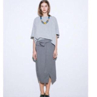 ENFOLD - ENFOLD グレー スカート