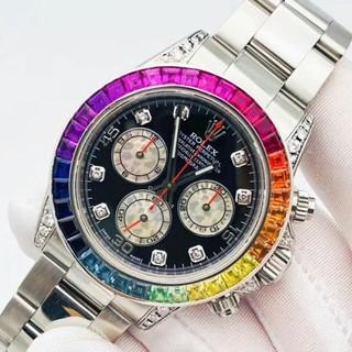 ROLEX - ★新品★宇宙のスコープを持って自動機械鋼ディ虹の腕時計を持ちます