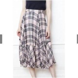 アプワイザーリッシェ(Apuweiser-riche)のチェックプリーツスカート(ひざ丈スカート)