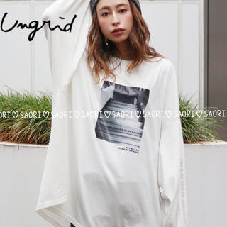 Ungrid - ungrid【新品タグ付】フォトプリントロングスリーブTee★t