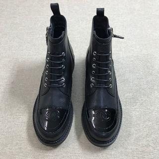 シャネル(CHANEL)の秋 Chanel シャネル ブーツ ブラック 花 38(ブーツ)