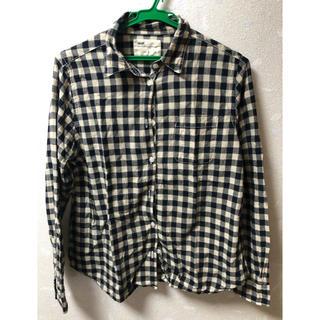 アップタイト(uptight)のシャツ ブラウス ブロックチェック 紺 ネイビー(シャツ/ブラウス(長袖/七分))