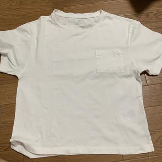 アースミュージックアンドエコロジー(earth music & ecology)の白いシャツ(Tシャツ(半袖/袖なし))