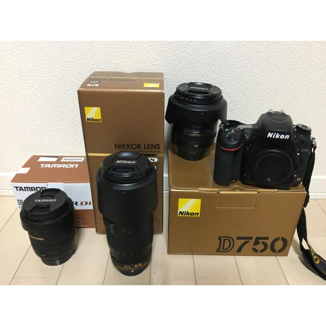 Nikon(ニコン)の最終値下げ!!! Nikon D750 レンズセット スマホ/家電/カメラのカメラ(デジタル一眼)の商品写真