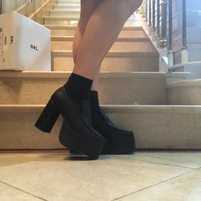GRL(グレイル)のGRLボリューム厚底ローファー レディースの靴/シューズ(ローファー/革靴)の商品写真