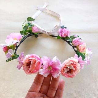花冠 ベビー キッズ フラワーかんむり(ファッション雑貨)