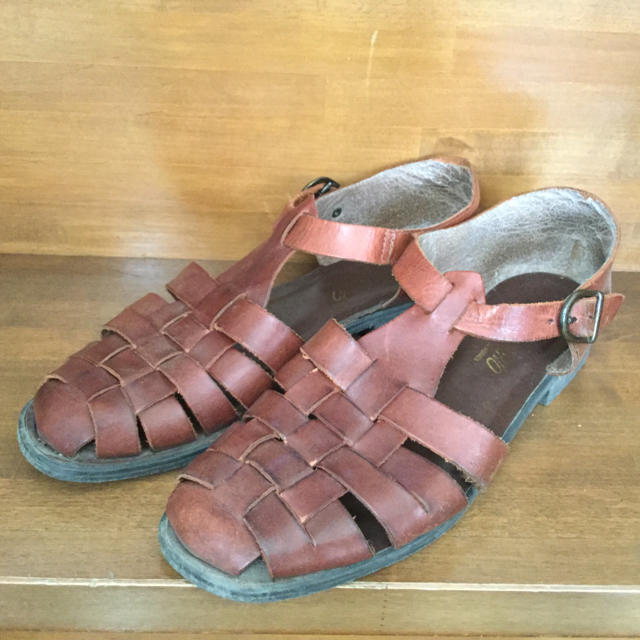 ROMANO サンダル 本皮 本革 レディースの靴/シューズ(サンダル)の商品写真
