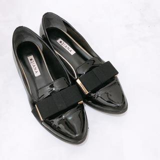 ダイアナ(DIANA)のダイアナ リボン フラットシューズ(ローファー/革靴)