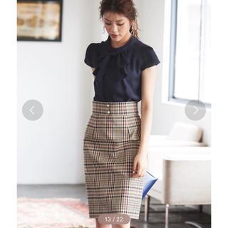 31 Sons de mode - パール付きチェックタイトスカート