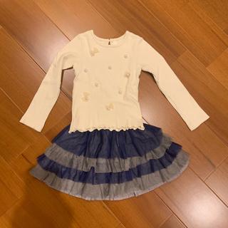 ニットプランナー(KP)のトップスとスカートのセット 120(Tシャツ/カットソー)