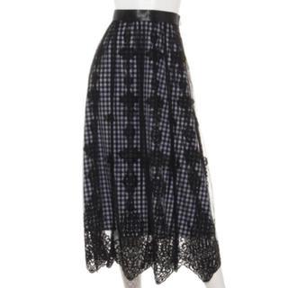 Apuweiser-riche - パネル刺繍ロングスカート