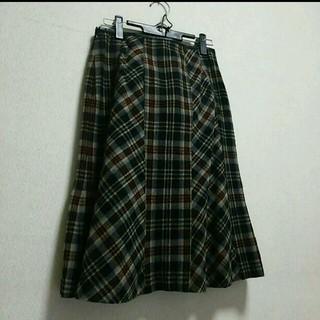 ジオスポーツ(GIO SPORT)のジオ タータンチェックウールスカート(ひざ丈スカート)