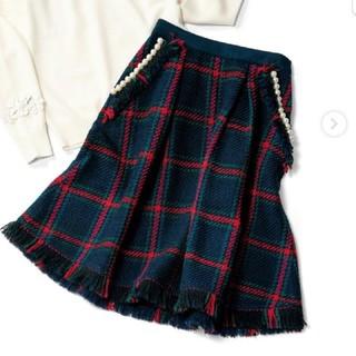 Chesty - chesty ツイードフレアスカート ・ネイビー ・1サイズ