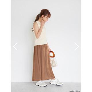 cohina スカート ブラウン(ロングスカート)
