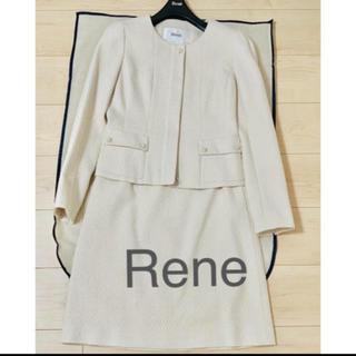 ルネ(René)のRene スーツ コサージュ付 36(スーツ)