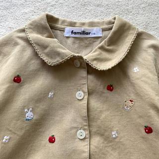 familiar - ファミリア★りあちゃん・りんご刺繍 コーデュロイワンピース 110cm