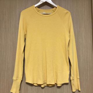 ギャップ(GAP)のGAP ギャップ メンズ ロンT  ワッフルT  カラシ色(Tシャツ/カットソー(七分/長袖))
