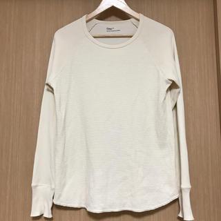 ギャップ(GAP)のGAP ギャップ メンズ ロンT  ワッフルT  白(Tシャツ/カットソー(七分/長袖))