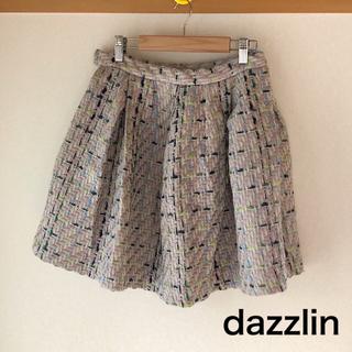 ダズリン(dazzlin)の新品未使用/ツイードフレアスカート(ひざ丈スカート)