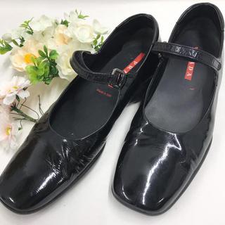 プラダ(PRADA)の❤️値下げ❤️ プラダ PRADA パンプス レディース 靴 23cm ブラック(ローファー/革靴)