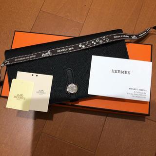 エルメス(Hermes)の【新品未使用品・希少品】HERMÈS エルメス ドゴン レクトヴェルソ ブラック(長財布)