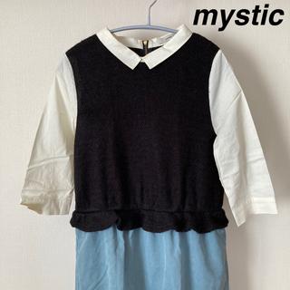 ミスティック(mystic)のmystic♡異素材切り替えワンピース(ひざ丈ワンピース)