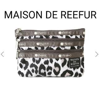 メゾンドリーファー(Maison de Reefur)の新品♡完売 メゾンドリーファー レスポ Three Zip Cosmetic(ポーチ)