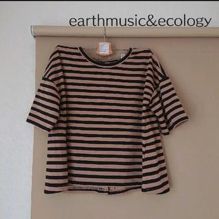 アースミュージックアンドエコロジー(earth music & ecology)のTシャツ ボーダーカットソー レディース F アースミュージックアンドエコロジー(Tシャツ(半袖/袖なし))