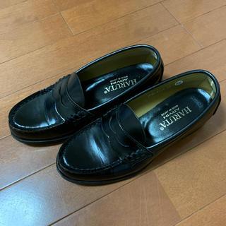ハルタ(HARUTA)のハルタ ローファー 黒 23センチEE(ローファー/革靴)