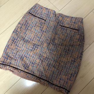 Lily Brown - リリーブラウン ツイード台形スカート