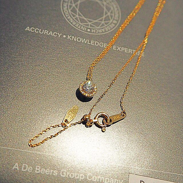 DE BEERS(デビアス)の新春セール終了間近*デビアスグループ Pure Marie T/L0.25ct レディースのアクセサリー(ネックレス)の商品写真