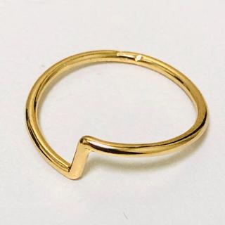 K18 変わったデザインの指輪