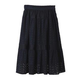 トランテアンソンドゥモード(31 Sons de mode)の31 Sons de mode コットン刺繍スカート(ひざ丈スカート)