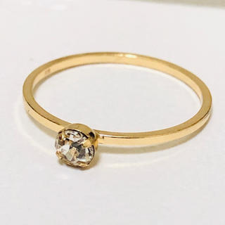 K18 ダイヤ調のリング